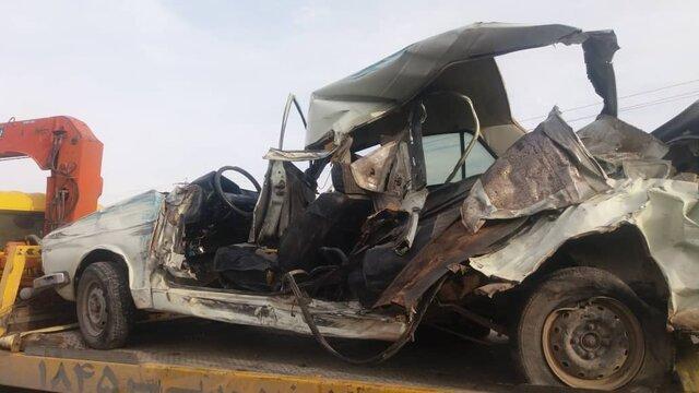 تصادف زنجیره ای مرگبار 3 خودرو در محور یاسوج- بابامیدان