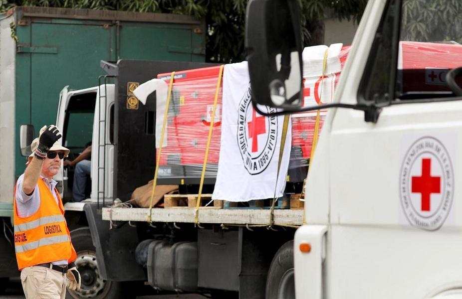 نخستین محموله امدادی صلیب سرخ وارد ونزوئلا شد